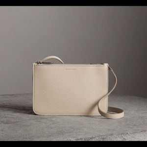 Burberry Triple Zip Pebble Grain Crossbody